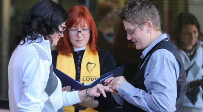 First Same-sex Couples Wed in Wyoming