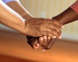 holding hands pastoral